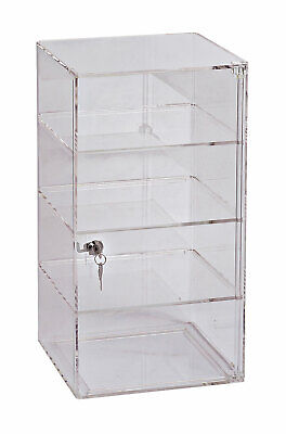 3-shelf Acrylic Tower Display Case - Removable Shelves - Lock Key