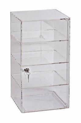3-shelf Acrylic Tower Display Case - Removable Shelves - Lock Key