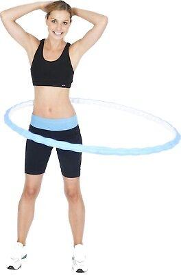 Health Hula Hoop S 23 Fitness Massage Reifen Bauchtrainer Ø100 cm 720 g blau