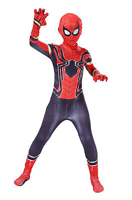 2018 Infinity War New Design Iron Spiderman Costume Tights Suit Kids or Adult  - Costumes Man