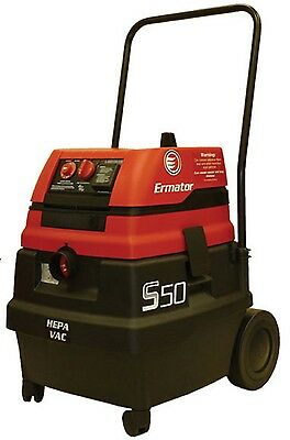Ermator S50 Commercial Hepa Wetdry Vacuum With Power Tool Outlet
