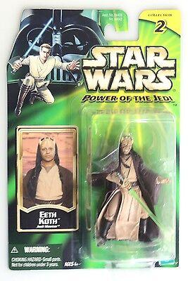 ESL2148. STAR WARS Power of the Jedi Eeth Koth Action Figure Hasbro (2001)^