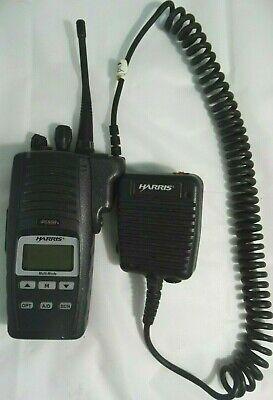 Harris P5500 Professional Two Way Radio W Mic