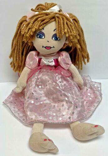 Build A Bear Friends 2B Made Doll Brown Blonde Red Hair Blue Eyes Princess Dress