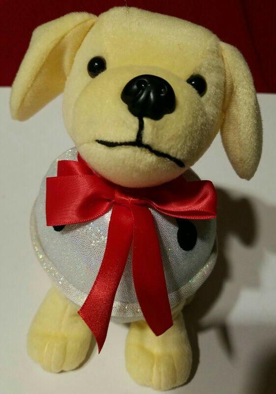 Raising Canes 2019 Jingle Cane Bell Christmas Dog Plush Stuffed Animal Toy