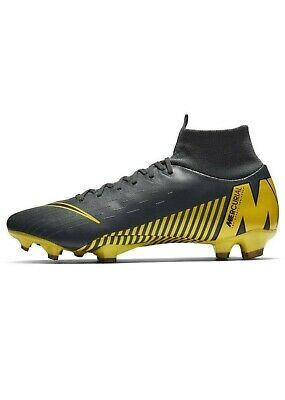 Nike Mercurial Superfly Pro DF Mens FG Football Boots, 8, DkGrey/Yellow