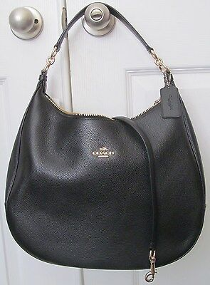 COACH F38259 HARLEY Black Leather HOBO
