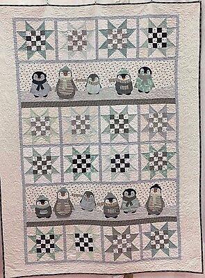 Kids Quilt Patterns (Penguin Winter ~ Applique Quilt Pattern ~ Northern Quilts of Norway ~ children )