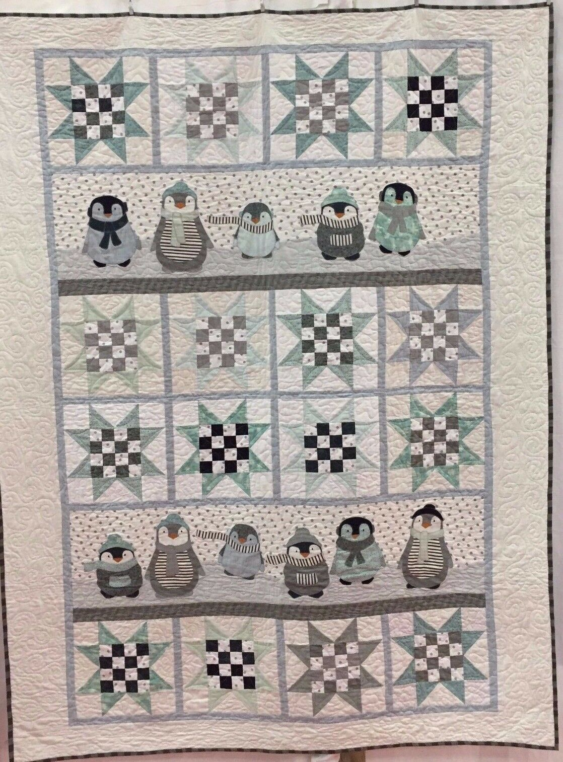 Penguin Winter ~ Applique Quilt Pattern ~ Northern Quilts of