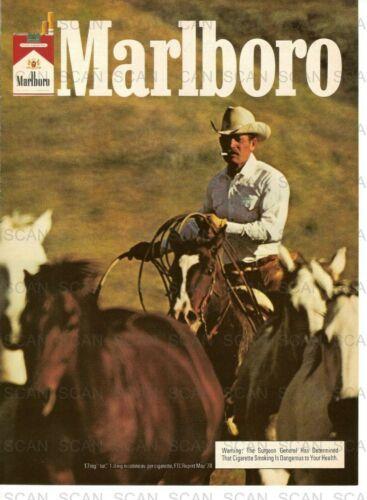1979 Marlboro Cigarettes Vintage Magazine Ad    Marlboro Man  Horses