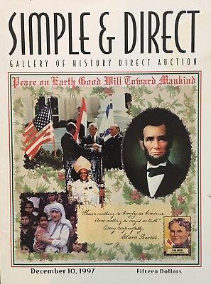 SIMPLE & DIRECT 1997 AUCTION CATALOG HISTORICAL ENTERTAINMENT PLUS