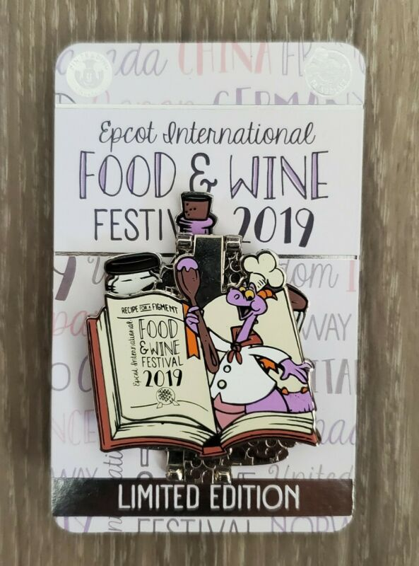 Disney Parks EPCOT Food & Wine Festival 2019 Passholder Figment Fold Hinged Pin