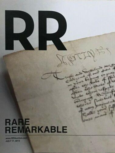 RR AUCTION CATALOG ENTERTAINMENT,HISTORICAL,MUSICIANS,NASA SPACE,SPORTS INTEREST