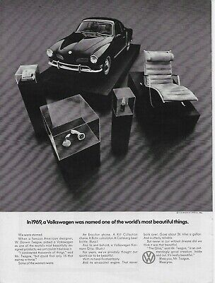 1970 1969 Volkswagen Karmann Ghia  Worlds Most Beauty Original Vintage Print Ad for sale  Shipping to Canada