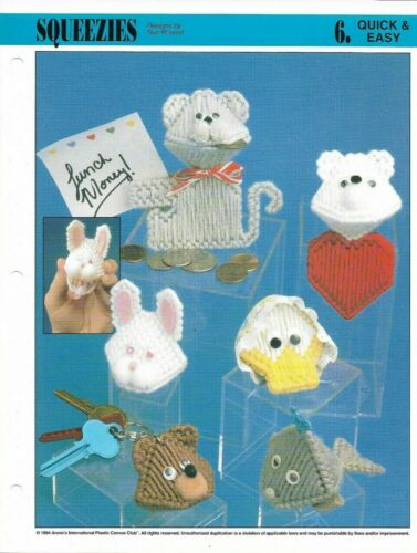 NEW 6 SQUEEZIES MOUSE BUNNY BEAR ANNIE