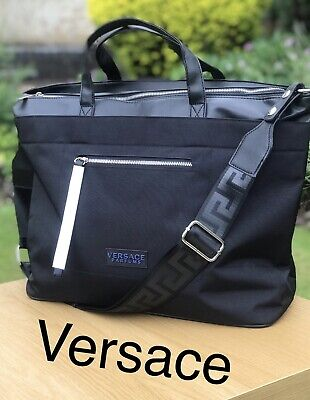 VERSACE Mens Black Sports Travel Weekend Gym Bag FREE DELIVERY BRAND NEW!!