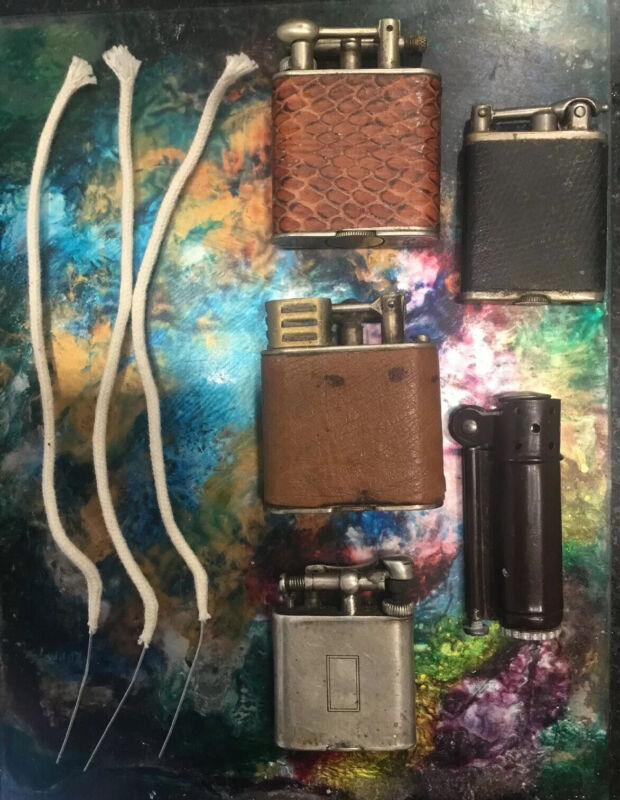 Lot 3 Wired Wicks For Petrol Lighters That Fit Dunhill Clark IMCO Ronson & MORE