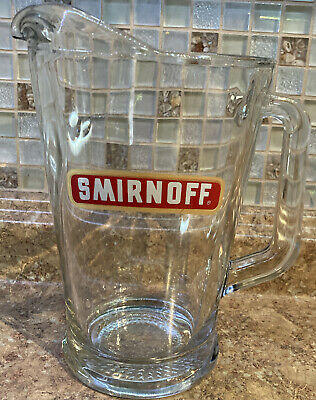 Smirnoff ~ Vintage Glass Large Pitcher ~ Rare