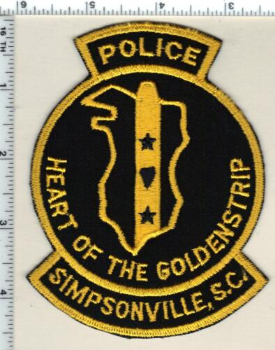 Simpsonville Police (South Carolina) Shoulder Patch new from 1989