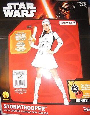 NEW Star Wars Female Stormtrooper Sexy Adult Costume w/ Medallion Medium 10-14](Female Storm Trooper)