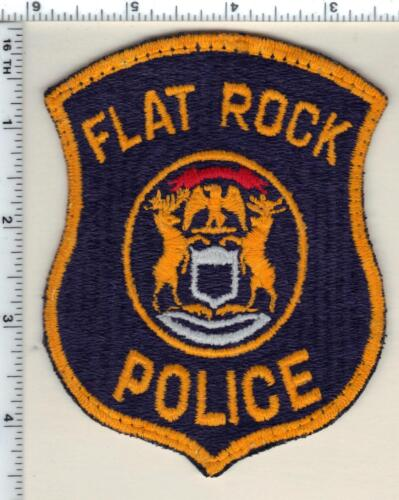 Flat Rock Police (Michigan) Uniform Take-Off Shoulder Patch from 1992