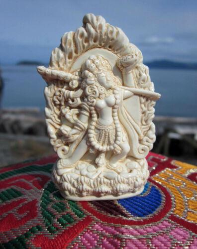 INCREDIBLY DETAILED IVORY-LOOK VAJRAYOGINI DAKINI TIBETAN BUDDHIST STATUE USA