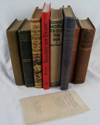 White Star Line TITANIC Book Collection #1: Robertson, Beesley, Gracie. c. 1912