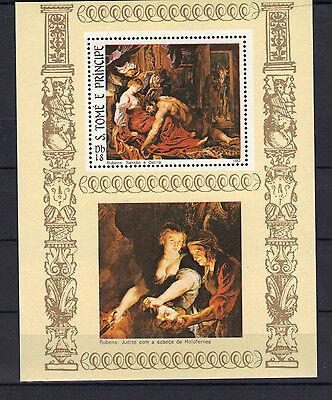 S.Tome & Principe 1983 EASTER Samson & Delilah by Rubens MNH S/S SC # 693