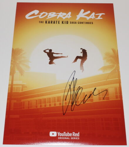 RALPH MACCHIO SIGNED COBRA KAI: THE KARATE KID SAGA 12X18 MOVIE POSTER PHOTO COA