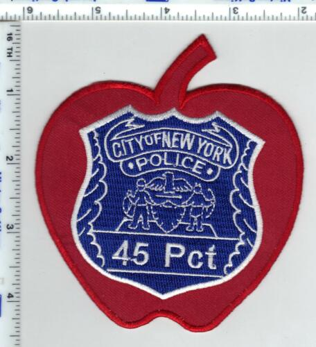 City of New York Police 45th Precinct Red Apple Novelty Shoulder Patch
