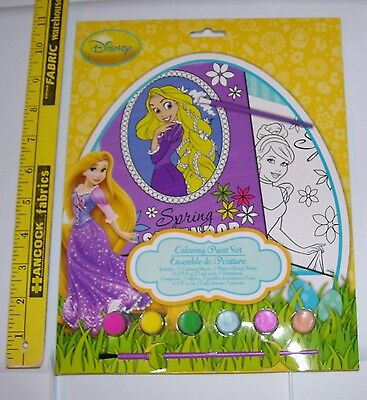 (DISNEY PRINCESS NEW IN PACKAGE COLORING PAINT SET SPRING WITH CINDERELLA)