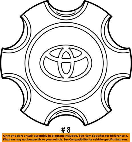 Toyota Oem 14 16 4runner Wheel Center Cap Hub Cover 4260b35070