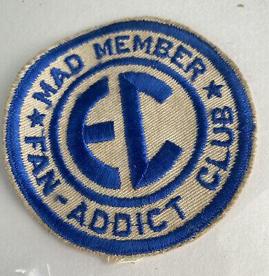 VINTAGE EC mad member fan addict club patch Excellent Condition