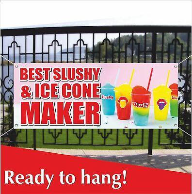 Slushy Ice Cone Advertising Vinyl Banner Mesh Banner Sign Flag Best Maker