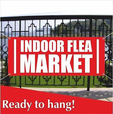 INDOOR FLEA MARKET Banner Vinyl / Mesh Banner Sign Market Discount Sale Cheap - Vinyl Banners Cheap