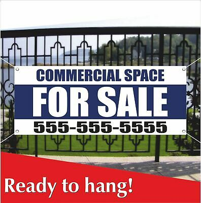 Commercial Space For Sale Banner Vinyl Mesh Banner Sign Store Real Estate Lease