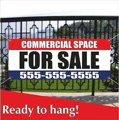 Commercial Space For Sale Banner Vinyl Mesh Banner Sign Store Real Estate Space