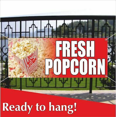 Fresh Popcorn Banner Vinyl Mesh Banner Sign Flag Flavor Caramel Cheese