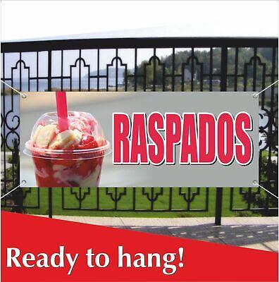 Raspados Advertising Vinyl Banner Mesh Banner Sign Flag Spanish Carnival Food