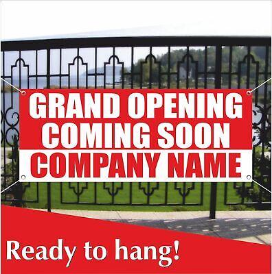 Grand Opening Coming Soon Banner Vinyl Mesh Banner Sign Custom Company Name