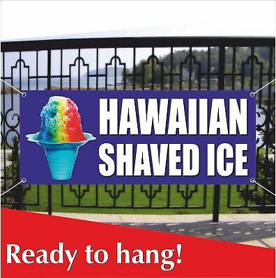 Hawaiian Shaved Ice Advertising Vinyl Banner Mesh Banner Sign Snow Cone Snow