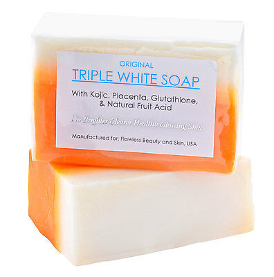 3 Bars of Kojic Acid, Placenta, & Glutathione Triple Whitening/Bleaching Soap