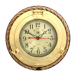 Bey-Berk 13 Porthole Wall Clock