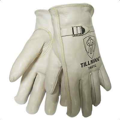 Tillman 1421 Grade A Top Grain Cowhide Drivers Gloves Wpull Strap Medium