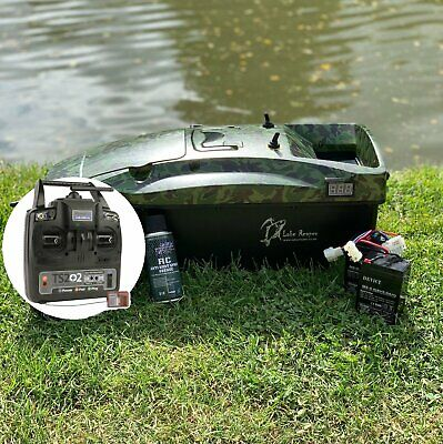 CARP BAIT BOAT. LAKE REAPER, CAMOUFLAGE WITH DEEPER PRO+ CHIRP COMPATIBLE RADIO