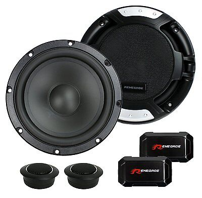 "2 New Renegade RX6.2C 6.5"" 200W 2 Way Car Component Audio Speakers System Stereo"