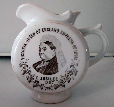 Queen Victoria 1887 Silver Jubilee White Pitcher - RARE