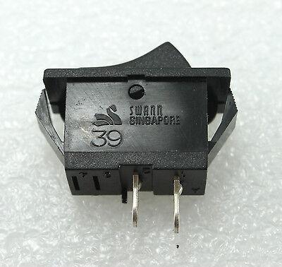 4pcs Black Rocker Switch Swann 39 SPST ON/OFF Snap in Panel Mount 15A 125VAC
