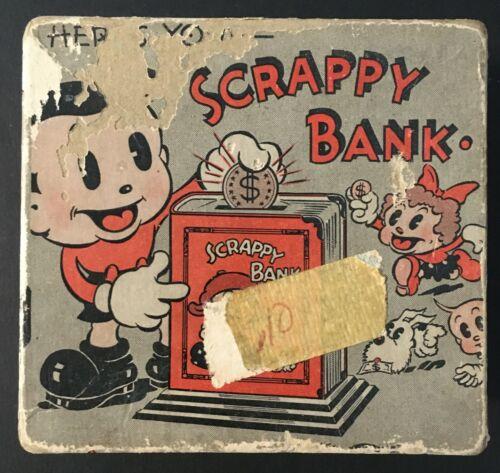 "1935 ""SCRAPPY BANK"" BOX - MINTZ CARTOON CHARACTER - OOPY, MARGY & YIPPY"
