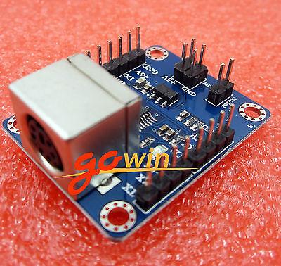 8PCS PS2 Keyboard Driver Module Serial Port Transmission Module AVR hot